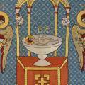Голубой литургический комплект