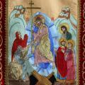 Хоругвь Воскресение Христово (Сошествие во ад)