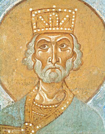 В Старой Ладоге фрески из церкви св. Георгия.   Золотошвейная ... b4b53b46e8a