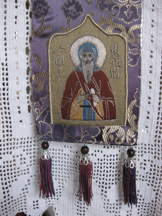 Закладка для Евангелия с образом прп. Антония Дымского