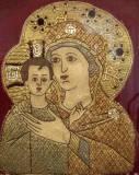 Кирилловский музей. Богородица с узорным нимбом.16й век.