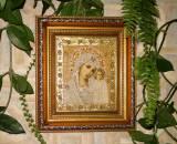 Икона Божией Матери Казанская в вышитой ризе