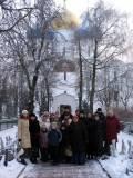 Наше групповое фото на фоне Успенского Собора