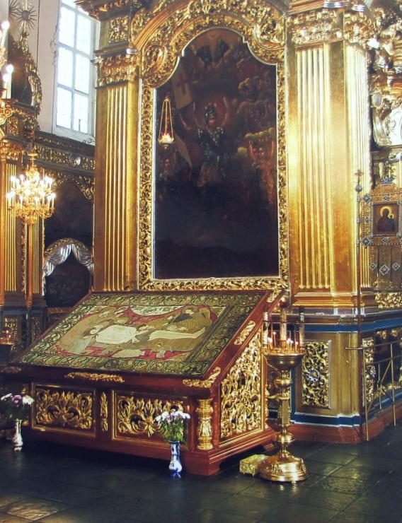 Плащаница Старицких из Смоленска. После реставрации