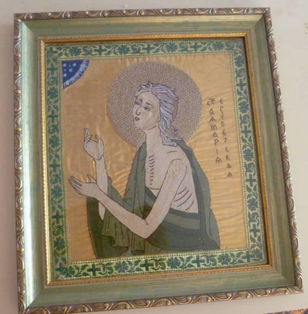 Икона мария египетская вышивка бисером 8