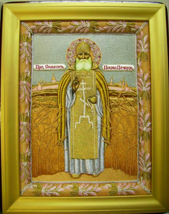 Вышивка золотом икон