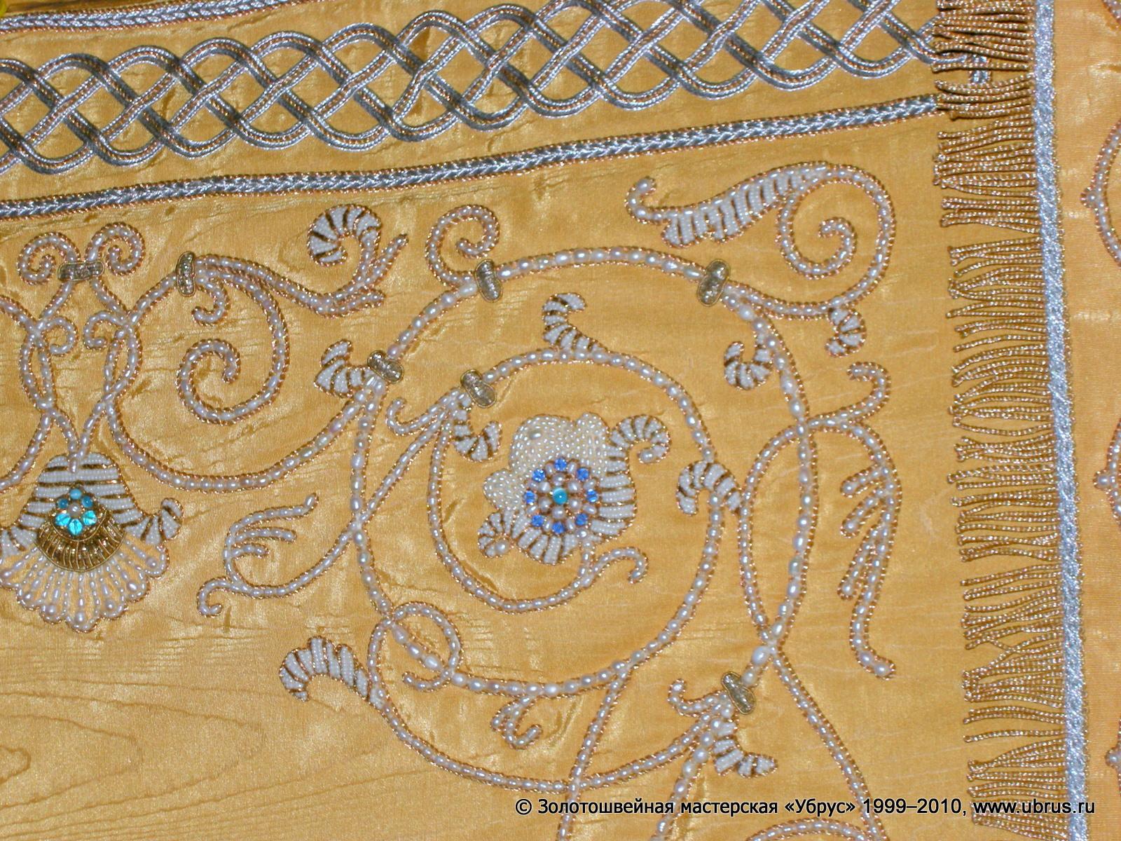 Золотошвейная вышивка убрус